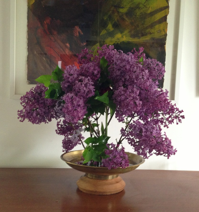 Lilacs from the garden. Oh the smell!