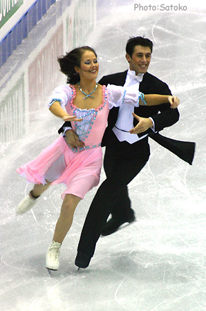 Pamela O'Connor and Jonathon O'Dougherty skating the Golden Waltz compulsory dance at the 2005 European Championships.
