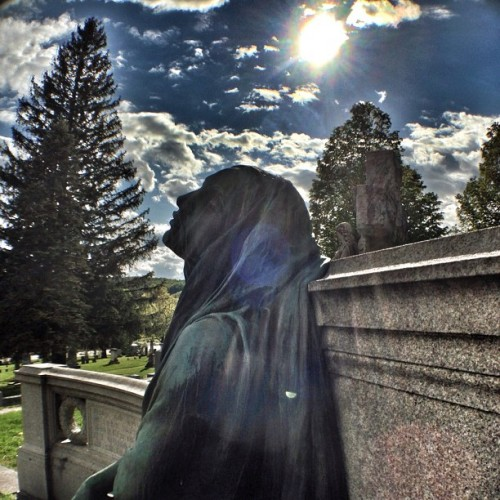 Black Agnes - Green Mount Cemetery in Montpelier, Vt. May 2013.  (at Green Mount Cemetery)