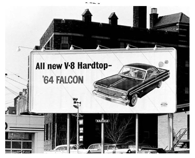 Falcon billboard… 1964