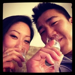 Happy new year to everyone and to my bubby @jef_lin  😘!!!!! #2013 #champagne #yay