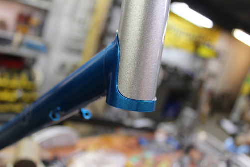 Tommy's Road Bike by bishopbikes on Flickr.Here's a shot of my frame that Chris took. I am building it up this week!