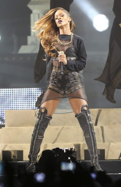 Rihanna on stage in Torontofor her Diamonds World Tour.