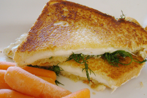 vegan-yums:  Provolone and Dill Grilled Cheese by Vegan Feast Catering on Flickr.
