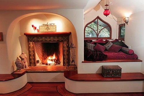 bluepueblo:  Fireplace Alcove, Ojai, California photo via latimes