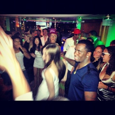 Dance battle w/ @iamdiddy #turntup #stbarths #nye by smaroon_1 #newyearseve