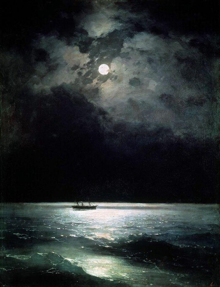 The Black Sea at night, Ivan Aivazovsky, oil on canvas, 1879