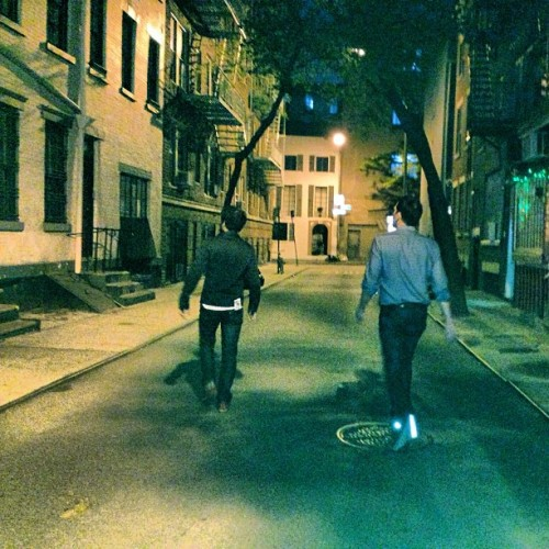 darren walking at night in new york