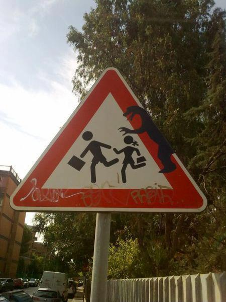 dancloud9:  #danger, #monster, #crosswalk