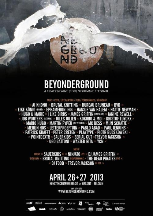 mcbess:  Going to be speaking at Beyonderground in Hasselt, Belgium, also going to be playing there with the Dead Pirates ! Woop hoop poop !www.beyonderground.com/tickets   wohoo mini roadtrip, plus my name slipped on the poster