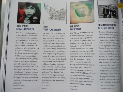 My album #Testimony featured and recommended in Dutch Glossy #Frits. Thanks guys!