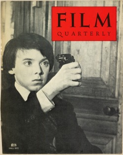 Harold and Maude featured on the Fall 1972 cover of Film Quarterly