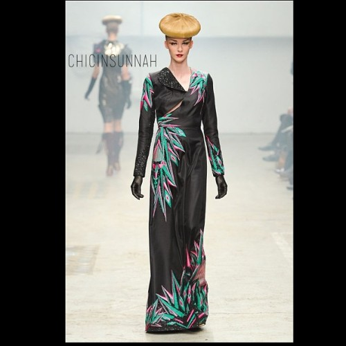 #chicbeat Manish Arora. #longsleevedress #hijab