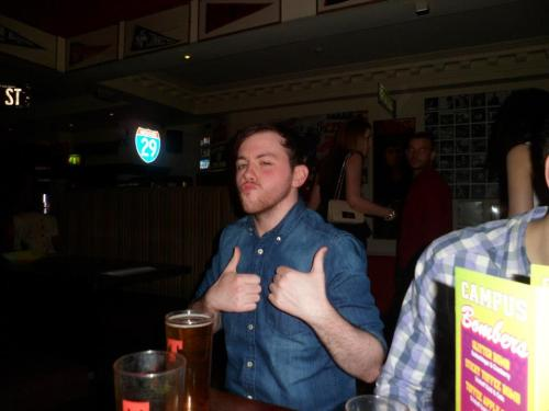 this is me from my friend Emma's birthday night out a while back. that is before the first drink. smooth criminal, no doubt.