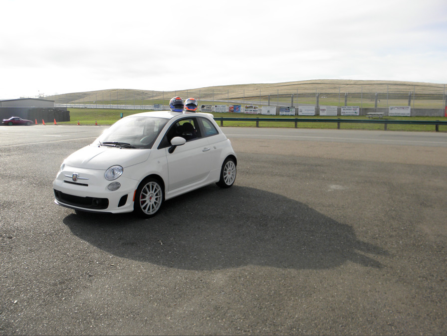 smanged the abarth today at the track