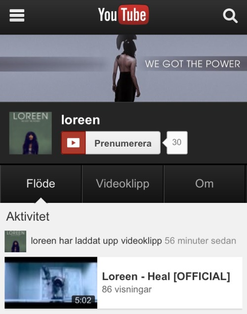 12points-to-loreen:  She Finally has a youtube account! Check it out at youtube.com/loreen
