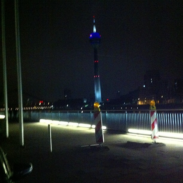 Dusseldorf at night. Finally cleared up / on Instagram http://bit.ly/10a3rp6