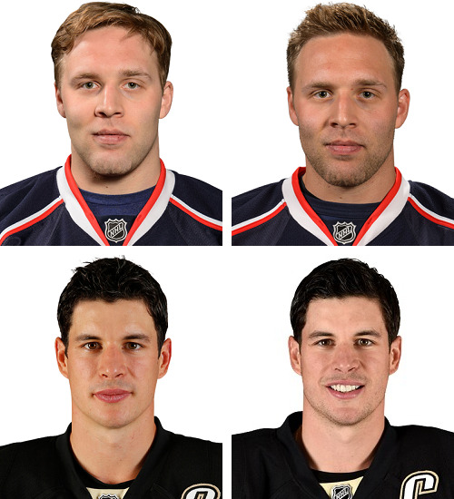 random 2013-2014 vs. 2014-215 roster photos.