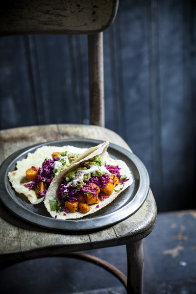 Sweet Potato Tacos with recipe (link)