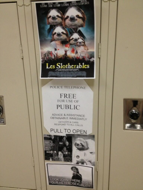haleighanne:  somebody put these on a locker at my school i knew what everything meant because of tumblr