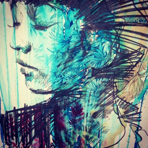 carnegriffiths:  Floral growth (at Studio 4, Norlington Road)