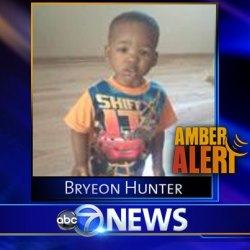 the-bulls:  AMBER ALERT: Police have issued an Amber Alert for Bryeon Hunter, a 1-year-old boy taken from 6th and Main in Maywood. The child was apparently taken by three male Hispanics. The African-American boy is two feet tall and 30 pounds. He was wearing a two-tone, blue stripe long-sleeved shirt, jeans, and brown Nike boots. MAYWOOD IS A SUBURB IN ILLINOIS. PLEASE REBLOG IN CASE YOU HAVE FOLLOWERS FROM OR AROUND THIS AREA.