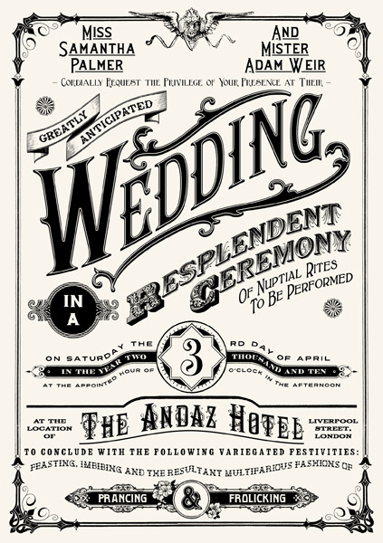 (Wedding Invitation by ~peterbowen on deviantARTから)