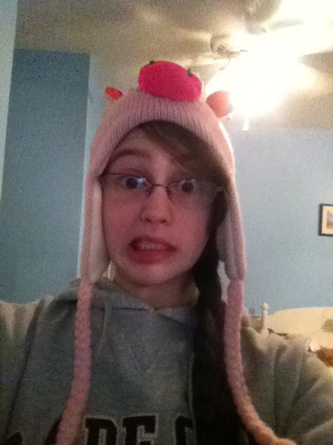 But then pig hat