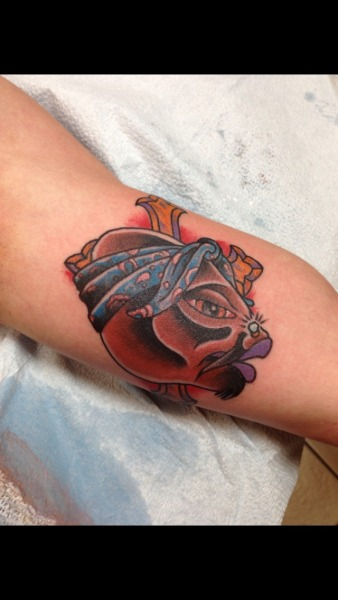 Tupac themed catfish head by Jason Thomas of black diamond tattoo in Jackson,ms. Instagram: black_diamond and coiled_snake