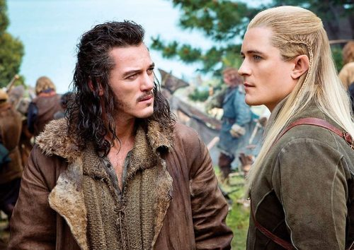 First look at Bard (Luke Evans) and Legolas (Orlando Bloom).