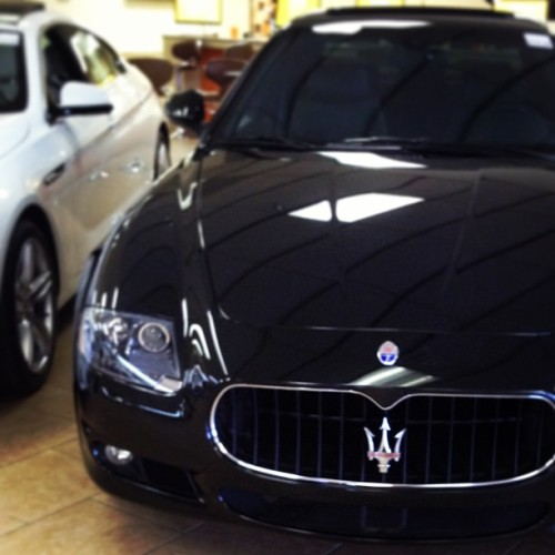 Review: Evening gown + bear rug + illegal substances #maserati #quattroporte #gts #rallycarshopping