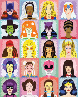 jackteagle:  Heroine and Villainesses A new wrapping paper design I created for Urban Graphic's Toasted range. Soon to be available from a variety of stockists!