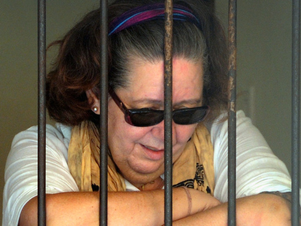 British grandmother to be executed by firing squad for smuggling cocaine after Bali court rejects appealAn Indonesian court upheld the death sentence against a British woman convicted of smuggling $2.5 million worth of cocaine into the resort island of Bali, a court official said Monday.The Bali High Court rejected an appeal from Lindsay June Sandiford, 56, who was convicted in January by a district court and sentenced to face a firing squad, said court spokesman Makkasau. Sandiford was arrested last May when 3.8 kilograms of cocaine was discovered stuffed inside the lining of her luggage at Bali's airport. During the trial, she said she was forced to carry the drugs by a gang that threatened to hurt her children. (Sonny Tumbelaka / AFP / Getty Images files)