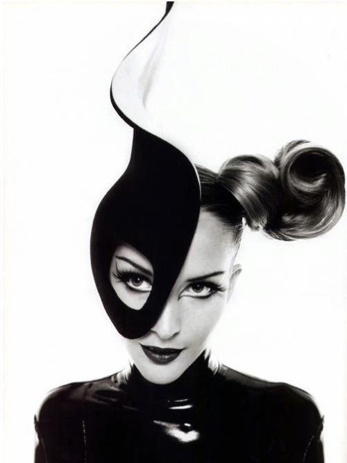 """Half- Mask"" Thierry Mugler Model: Georgina Grenville"