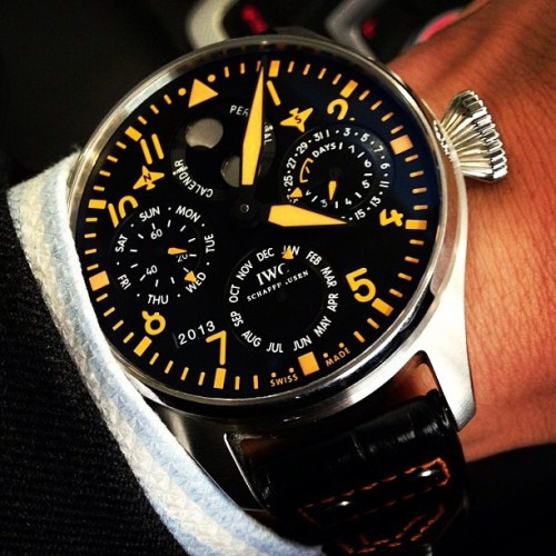 Repost: check out @princeoftennis and his #IWC #BigPilot #PerpetualCalendar #LimitedEdition #watch #watchoftheday #timepiece #limitededition #watches #watchoftheday #wristshot