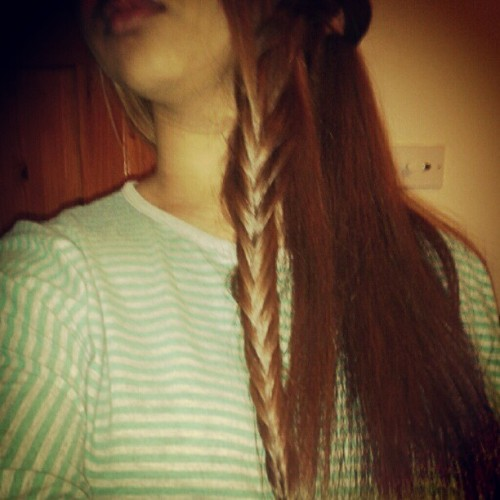 Not perfect done it fast #French / #fish #plait #braids