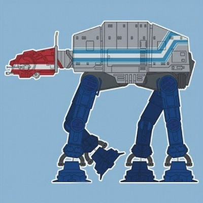 Star Wars AT-ATs Re-Styled as Famous Pop Culture Vehicles