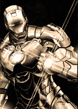 comicbookartwork:  Iron Man By Jimbo Salgado