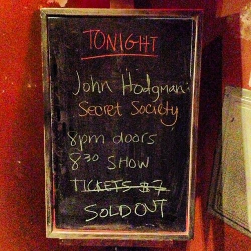 Thank you, John Hodgman, for not letting me not stay an extra day in Brooklyn so I could guest on Secret Society. It was fun and you are fun.