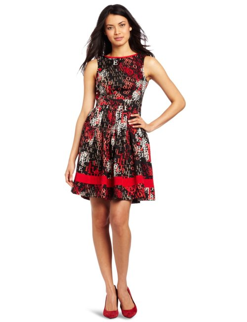 Jessica Simpson Women's Full Bodice Dress Be the first to review this item Price:$138.00 & eligible for FREE Super Saver Shipping. Details Size: Sizing info Color: Love Pompeian Red polyester Dry Clean Only Sleeveless Boat neck Faux-wrap V-back Get your message across with this Full Bodice dress from Jessica Simpson featuring ribbon detailing and darling love notes.