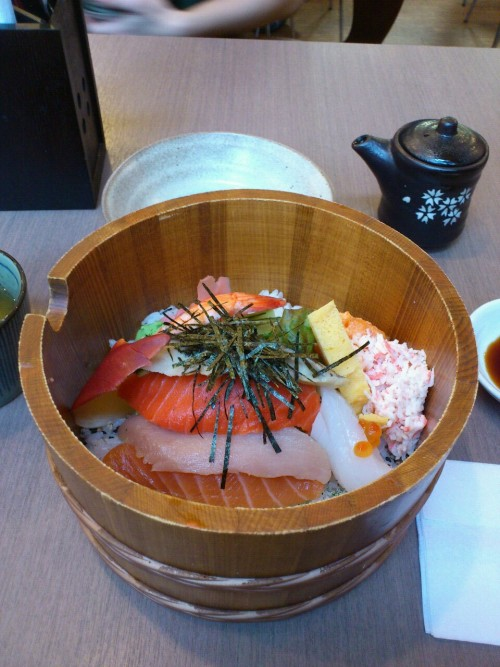 Chirashi don for lunch today =3 @ kita no donburi