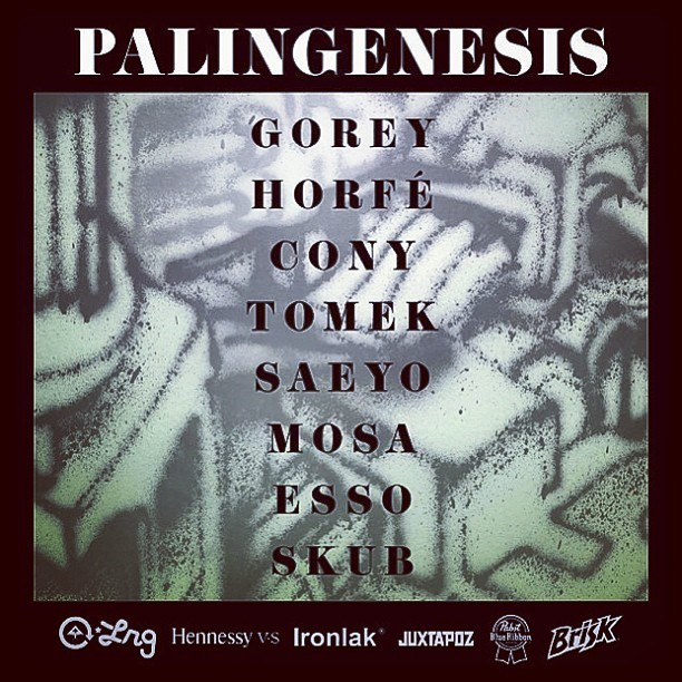 Our man @gorey has an opening tonight. PALINGENESIS! 154 Stanton Street. NYC. @klughaus pop up gallery. 6-10.  (at Nephews Skateshop + Art Gallery)