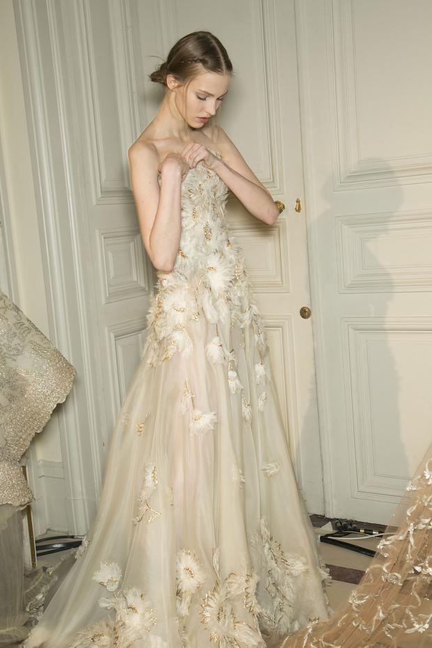 Backstage at Valentino Haute Couture S/S 13'.
