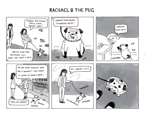 My friend Mariel wrote a comic about me (and my terrible adventure with dog sitting an anxious puppy)