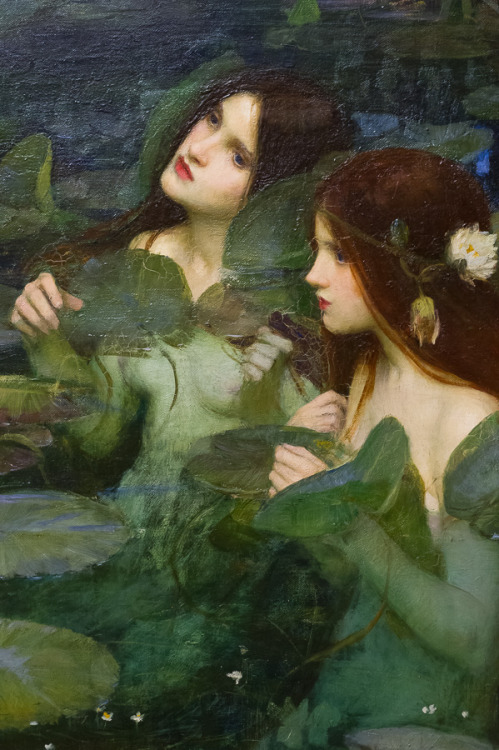 pre-raphaelisme:   detail of Hylas and the Nymphs by John William Waterhouse, 1896.