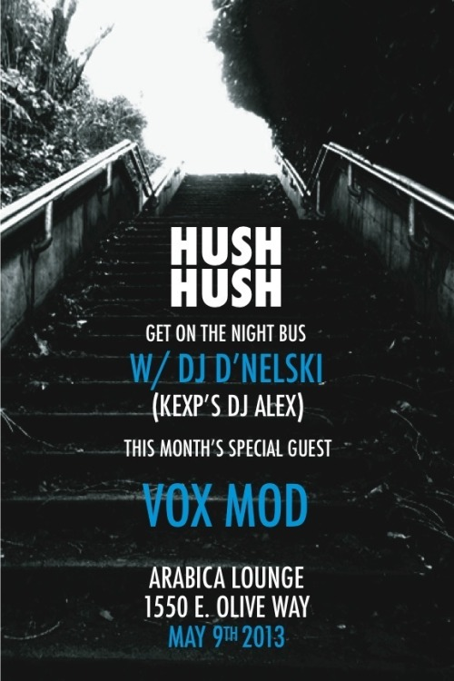 Tonight! Special guest live set from Vox Mod! I'll be debuting a lot of forthcoming Hush Hush Records material too :)))))