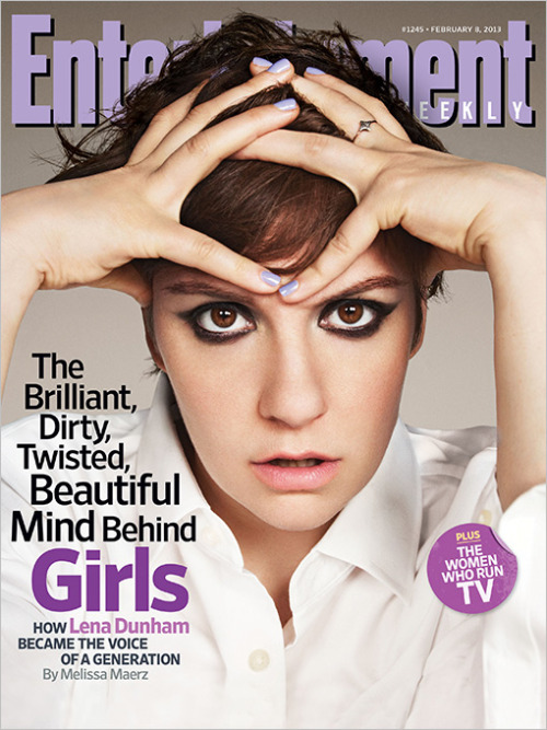 entertainmentweekly:  This week in EW: Lena Dunham's the cover star of our Women Who Run TV issue, which celebrates the on- and off-screen talent creating the smartest female-driven comedies and dramas on TV right now. Other highlights: We eavesdrop on a conversation between Scandal's show runner Shonda Rhimes and star Kerry Washington, get Amy Poehler's advice for making it in show business, and chat with Mindy Kaling about the perks of being a boss lady.
