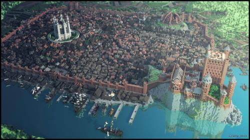 blackbutshining:  In the game of Minecraft you build Westeros or you… SWEET JESUS, they built King's Landing!