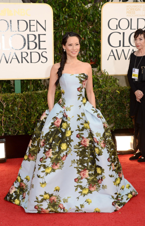 Garden Party ready?? Lucy Liu in Carolina Herrera! What to make of it!?