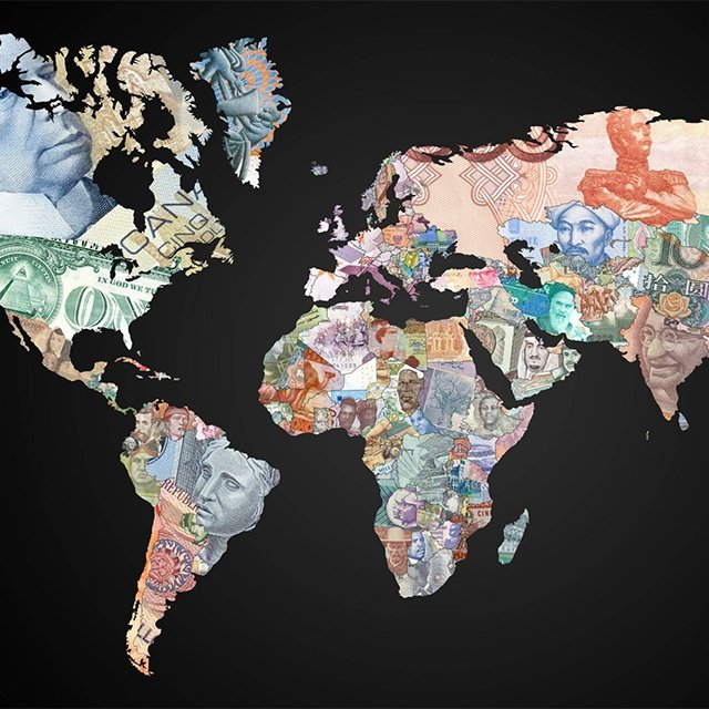 jaymug:  The World Map of Currencies
